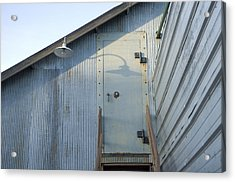 The Entry To A Metal Shed On A Sawmill Acrylic Print by Joel Sartore