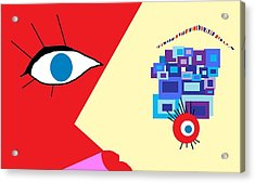 The Eyes Meet Acrylic Print by Miriam Lopez
