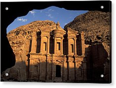 The Facade Of The Acrylic Print by Richard Nowitz