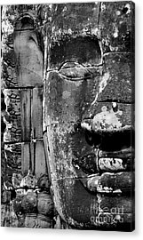 Acrylic Print featuring the photograph The Face Of Angkor by Nola Lee Kelsey