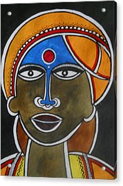 The Face Acrylic Print by Paritosh Pal