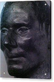 The Face Acrylic Print by Paul Washington