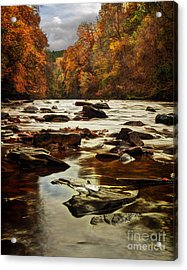 The Fall On The River Avon  Acrylic Print