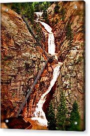 The Falls Acrylic Print by Amber Hennessey