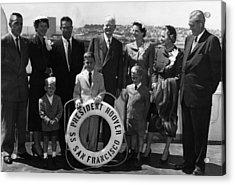 The Family Of Former President Herbert Acrylic Print by Everett