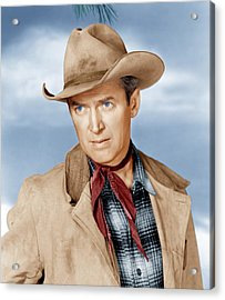 The Far Country, James Stewart, 1954 Acrylic Print by Everett
