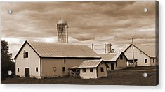 The Farm Acrylic Print by Barry Jones