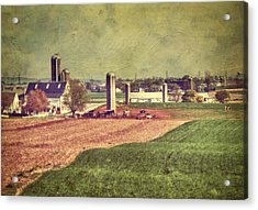 The Farm In Lancaster Acrylic Print by Kathy Jennings