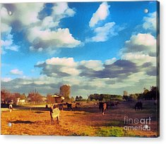 The Farm Acrylic Print by Odon Czintos