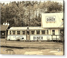 Acrylic Print featuring the photograph The Farmers Diner In Sepia by Sherman Perry