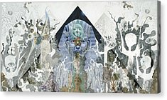 Acrylic Print featuring the mixed media The Faroah Of Funkadelphia by Douglas Fromm