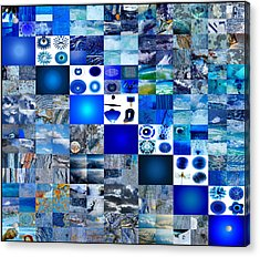 The Fathomless Blue Of Bliss Acrylic Print