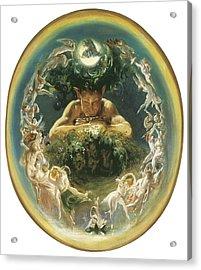 The Faun And The Fairies Acrylic Print