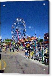 Acrylic Print featuring the photograph The Ferris Wheel At The Fair by Mario Carini