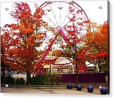 The Ferris Wheel Acrylic Print by James Mancini Heath