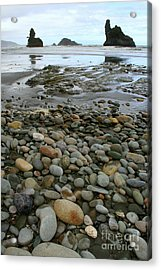 The Finger Acrylic Print by Jan Lawnikanis