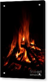 The Fire Acrylic Print by Donna Greene