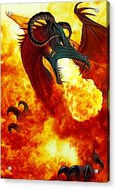 The Fire Dragon Acrylic Print