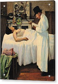 The First Attempt To Treat Cancer With X Rays Acrylic Print by Georges Chicotot