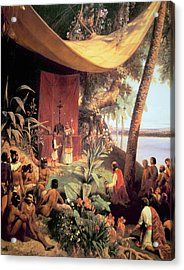 The First Mass Held In The Americas Acrylic Print by Pharamond Blanchard