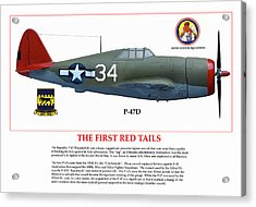 The First  Red Tails Acrylic Print by Jerry Taliaferro