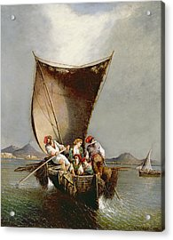 The Fisherman's Family Acrylic Print by Consalvo Carelli