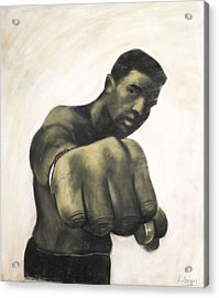 The Fist Acrylic Print by L Cooper