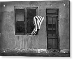 The Flag A Window And A Door Acrylic Print by James Steele
