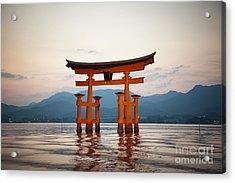 The Floating Torii Acrylic Print by Ei Katsumata