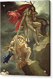 The Flood Acrylic Print by Anne Louis Girodet de Roucy-Trioson