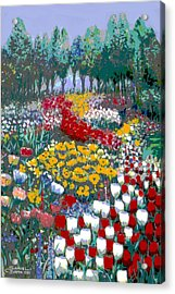 The Flower Garden. Acrylic Print