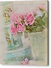 The Flower Shop  Acrylic Print by Sandra Rossouw