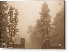 Acrylic Print featuring the photograph The Fog by Shannon Harrington