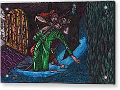 The Forest Lord Prevents A Rash Act Acrylic Print by Al Goldfarb