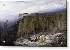 The Forest Of Valdoniello - Corsica Acrylic Print by Edward Lear