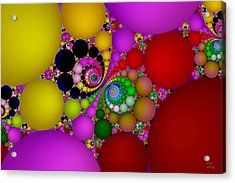 The Fractal Landscape Of Consciousness II Acrylic Print by Manny Lorenzo