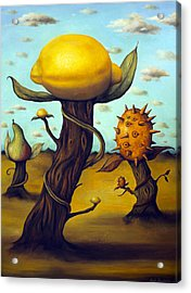 The Fruit Orchard Acrylic Print by Leah Saulnier The Painting Maniac
