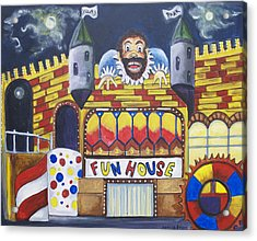 The Funhouse Castle Acrylic Print by Patricia Arroyo