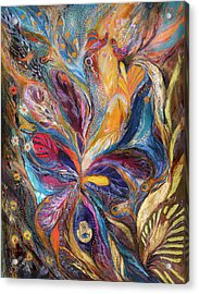The Galilee Iris Acrylic Print by Elena Kotliarker