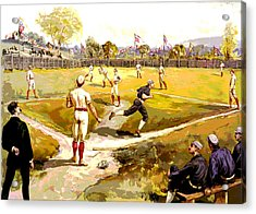 The Game Acrylic Print by Charles Shoup