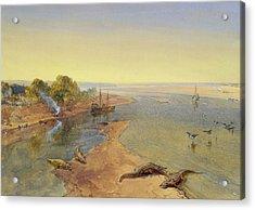 The Ganges Acrylic Print by William Crimea Simpson