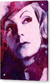 The Garbo Pastel Acrylic Print by Steve K