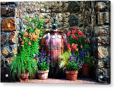 The Garden Cistern Acrylic Print by Bill Cannon