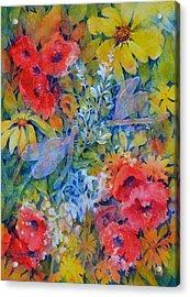 The Garden Acrylic Print by Cynthia Roudebush
