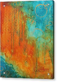 Acrylic Print featuring the painting The Garden by Nicole Nadeau