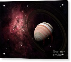 The Gas Giant Carter Orbited By Its Two Acrylic Print by Brian Christensen