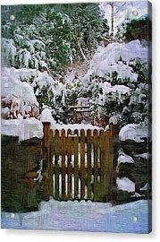 The Gate Acrylic Print by Amanda Moore