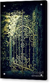 The Gate In The Grotto Of The Redemption Iowa Acrylic Print by Susanne Van Hulst