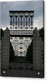 The Gate Acrylic Print by Nina Fosdick