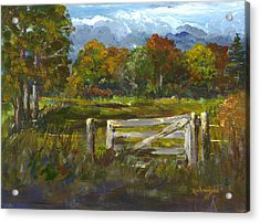 The Gate Of The Lord Acrylic Print by George Richardson